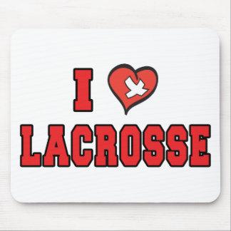 I Love Lacrosse Mouse Mat