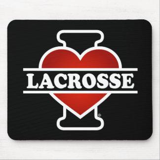 I Love Lacrosse Mouse Pad