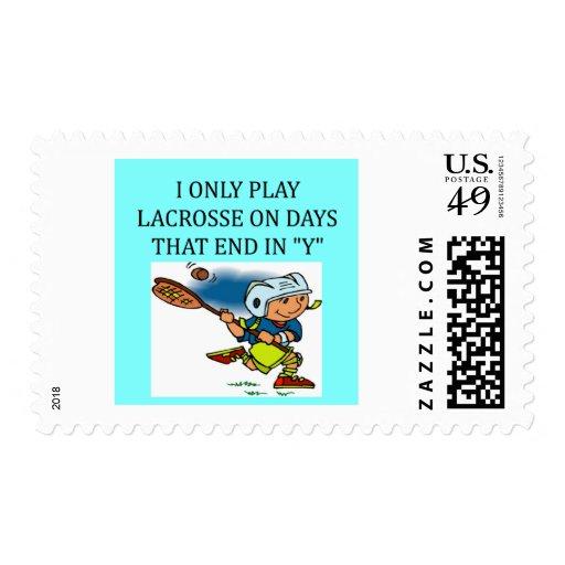 i love lacrosse stamp