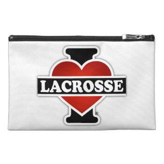 I Love Lacrosse Travel Accessory Bag