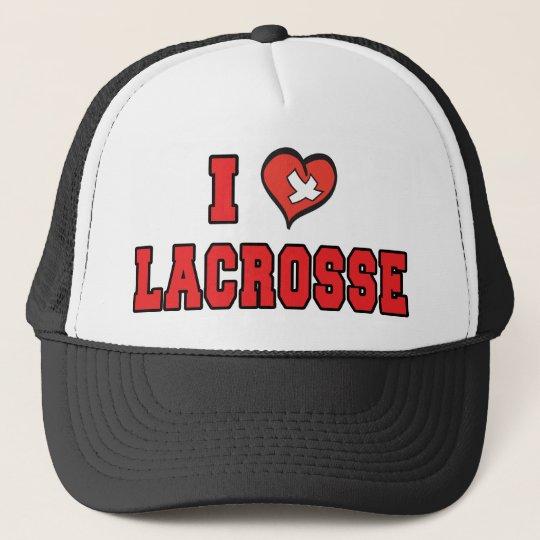 I Love Lacrosse Trucker Hat