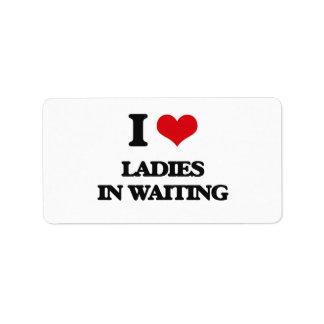 I love Ladies In Waiting Custom Address Labels