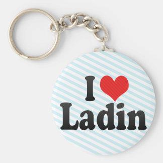 I Love Ladin Keychains