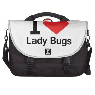 I Love Lady Bugs Bags For Laptop