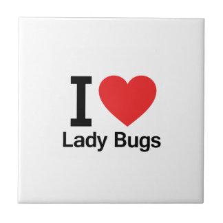 I Love Lady Bugs Tiles