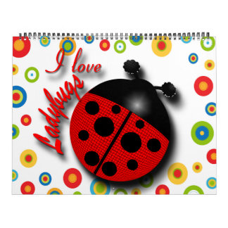 I Love Ladybugs 2012 Calendar