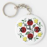 I Love Ladybugs Basic Round Button Keychain