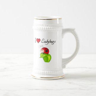 I Love Ladybugs Beer Stein