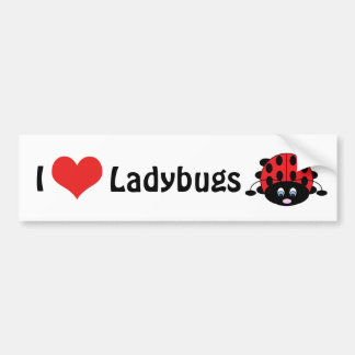 I Love Ladybugs Bumper Sticker