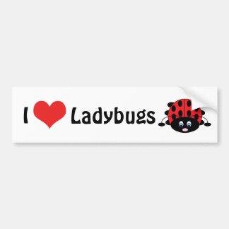 I Love Ladybugs Bumper Sticker Car Bumper Sticker