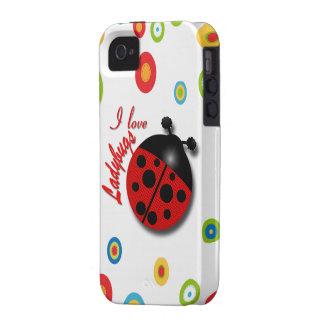 I Love Ladybugs Vibe iPhone 4 Cover