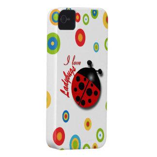 I Love Ladybugs iPhone 4 Cover