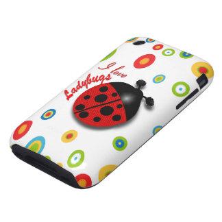 I Love Ladybugs iPhone 3 Tough Case