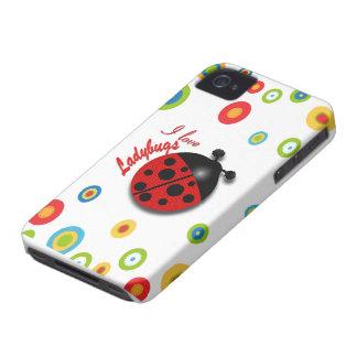 I Love Ladybugs iPhone 4 Case-Mate Case