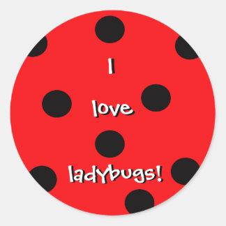I Love Ladybugs Sticker