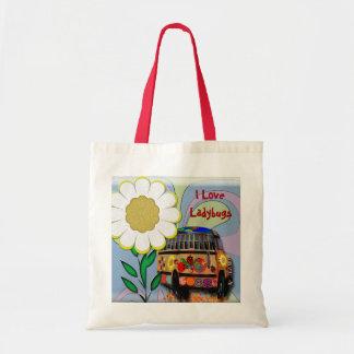 I Love Ladybugs Tote Bag