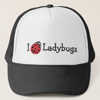 I Love Ladybugs Trucker Hat