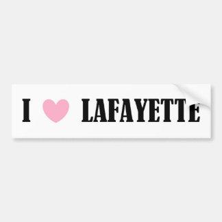 I LOVE LAFAYETTE BUMPER STICKER