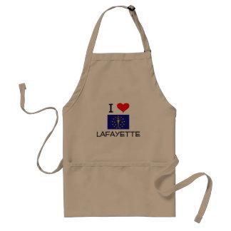I Love LAFAYETTE Indiana Adult Apron