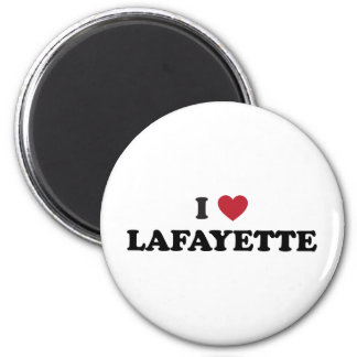 I Love Lafayette Louisiana 2 Inch Round Magnet