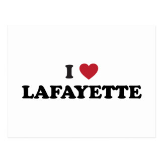 I Love Lafayette Louisiana Postcard