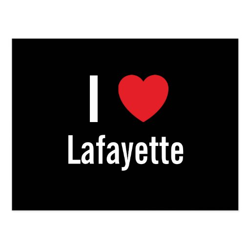 I love Lafayette Postcard