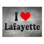 I Love Lafayette, United States Postcard