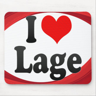 I Love Lage Germany Ich Liebe Lage Germany Mouse Pads