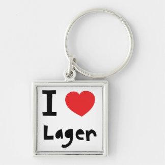 I love Lager Keychains