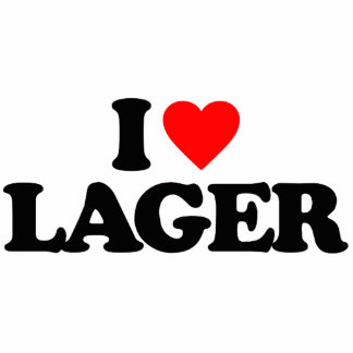 I LOVE LAGER PHOTO SCULPTURE MAGNET