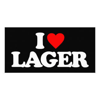I LOVE LAGER PHOTO CARD TEMPLATE