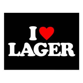 I LOVE LAGER POSTCARD