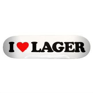 I LOVE LAGER SKATEBOARD DECK