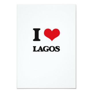 "I love Lagos 3.5"" X 5"" Invitation Card"