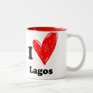 I love Lagos Two-Tone Coffee Mug