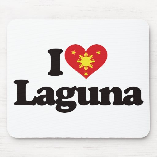 I Love Laguna Mousepads