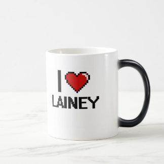 I Love Lainey Digital Retro Design Morphing Mug
