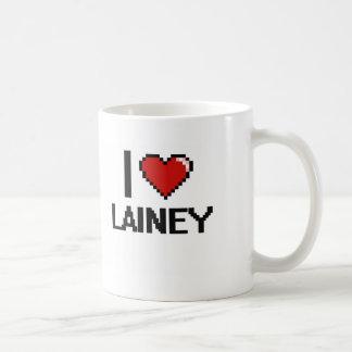 I Love Lainey Digital Retro Design Basic White Mug