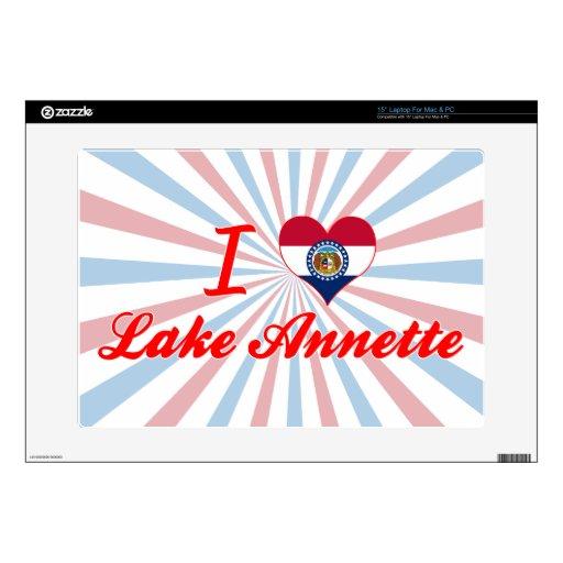 I Love Lake Annette, Missouri Laptop Decal