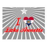 I Love Lake Annette, Missouri Postcard