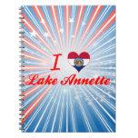 I Love Lake Annette, Missouri Spiral Note Book