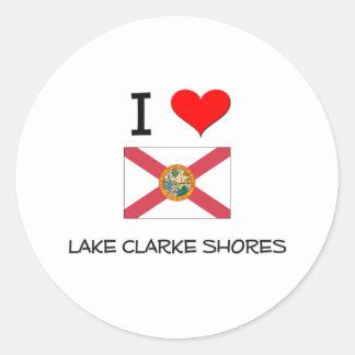 I Love LAKE CLARKE SHORES Florida Classic Round Sticker