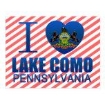 I Love Lake Como, PA Postcards