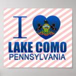 I Love Lake Como, PA Posters