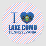 I Love Lake Como, PA Round Sticker