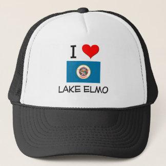 I Love Lake Elmo Minnesota Trucker Hat