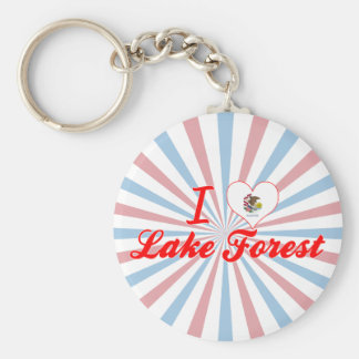 I Love Lake Forest, Illinois Keychain