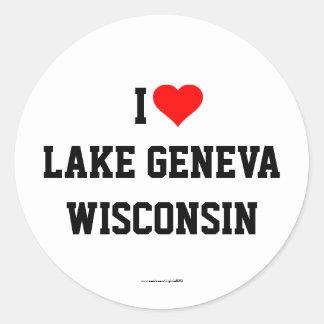 I Love Lake Geneva, Wisconsin stickers