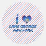 I love Lake George, New York Stickers