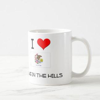 I Love LAKE IN THE HILLS Illinois Classic White Coffee Mug